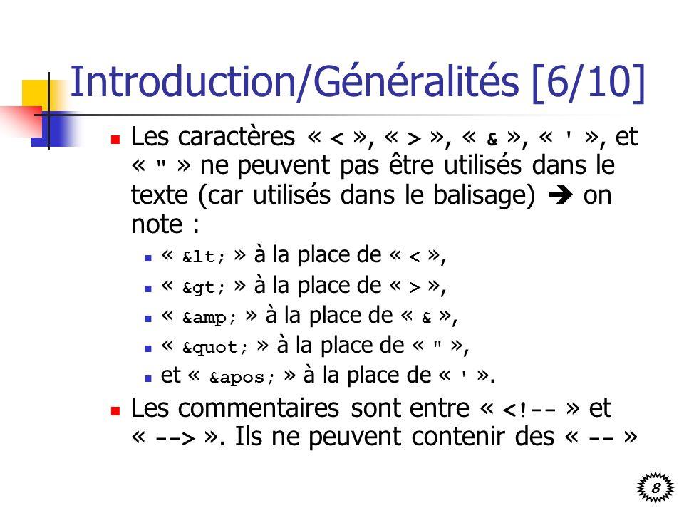 Introduction/Généralités [6/10]